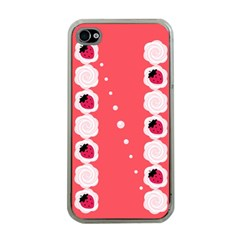 Cake Top Rose Apple Iphone 4 Case (clear) by strawberrymilk