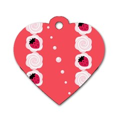 Cake Top Rose Dog Tag Heart (one Side)