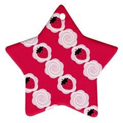 Cake Top Pink Ornament (star) by strawberrymilk