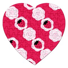 Cake Top Pink Jigsaw Puzzle (heart)