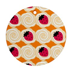 Cake Top Orange Round Ornament (two Sides) by strawberrymilk