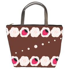 Cake Top Choco Bucket Bag by strawberrymilk