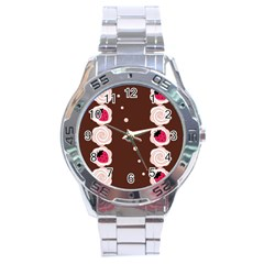 Cake Top Choco Stainless Steel Analogue Men's Watch by strawberrymilk