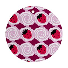 Cake Top Grape Ornament (round) by strawberrymilk