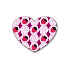 Cake Top Grape Heart Coaster (4 Pack) by strawberrymilk
