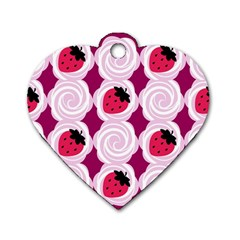 Cake Top Grape Dog Tag Heart (two Sides) by strawberrymilk