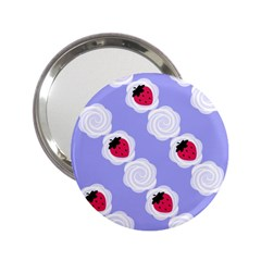 Cake Top Blueberry 2 25  Handbag Mirror by strawberrymilk