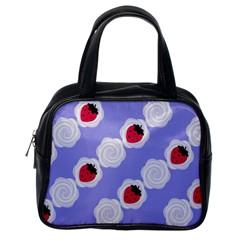 Cake Top Blueberry Classic Handbag (one Side)