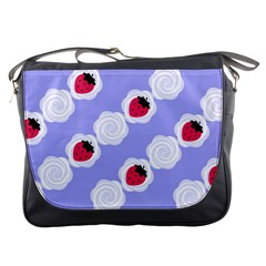 Cake Top Blueberry Messenger Bag by strawberrymilk