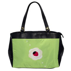 Cake Top Lime Oversize Office Handbag (one Side) by strawberrymilk