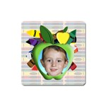 Crayon Apple Frame Magnet Square - Magnet (Square)
