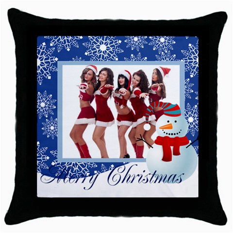 Merry Christmas By Angena Jolin   Throw Pillow Case (black)   7tg77j0c9pok   Www Artscow Com Front