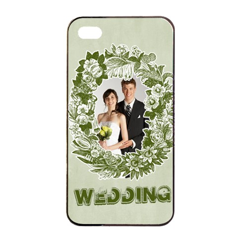Wedding By Paula Green   Apple Iphone 4/4s Seamless Case (black)   Klesacgs36y5   Www Artscow Com Front
