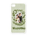 wedding - Apple iPhone 4 Case (White)
