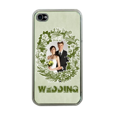 Wedding By Paula Green   Apple Iphone 4 Case (clear)   1agtl3c35nu1   Www Artscow Com Front