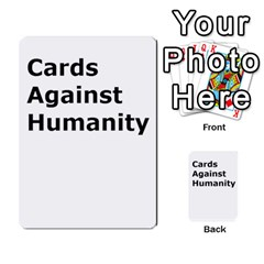 Cah1 By Justin   Multi Purpose Cards (rectangle)   D9im1owh5oo9   Www Artscow Com Back 24