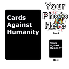 Cah1 By Justin   Multi Purpose Cards (rectangle)   D9im1owh5oo9   Www Artscow Com Back 48