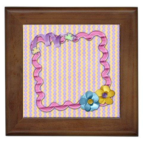 Spring Tile By Shelly   Framed Tile   53r8q8ovhr79   Www Artscow Com Front