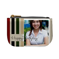 Happy Birthday By Jo Jo   Mini Coin Purse   1eo6vhbp6pdg   Www Artscow Com Front