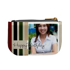 Happy Birthday By Jo Jo   Mini Coin Purse   1eo6vhbp6pdg   Www Artscow Com Back