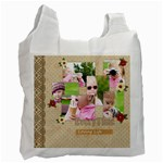 happy, kids, spring, fun, egg, child, family - Recycle Bag (Two Side)