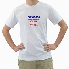 Newmans Tshirts Cash Wheel By Jan Sadler   Men s T Shirt (white) (two Sided)   Ukbnn3z6inu8   Www Artscow Com Front