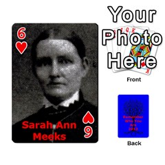 Ancestor Cards W/ Everyone By Darin Kerr   Playing Cards 54 Designs   15zv6fcny6zl   Www Artscow Com Front - Heart6