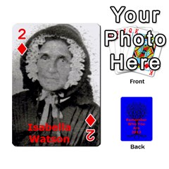 Ancestor Cards W/ Everyone By Darin Kerr   Playing Cards 54 Designs   15zv6fcny6zl   Www Artscow Com Front - Diamond2