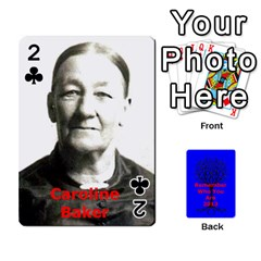 Ancestor Cards W/ Everyone By Darin Kerr   Playing Cards 54 Designs   15zv6fcny6zl   Www Artscow Com Front - Club2