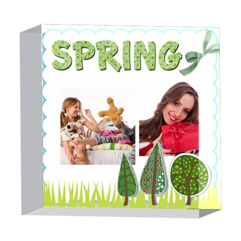 Spring By Betty   5  X 5  Acrylic Photo Block   Ix96g4hvu5k9   Www Artscow Com Front