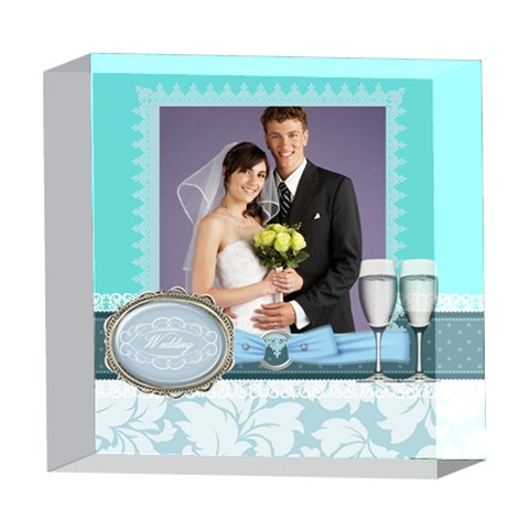 Wedding By Paula Green   5  X 5  Acrylic Photo Block   3v26fygnoo8k   Www Artscow Com Front