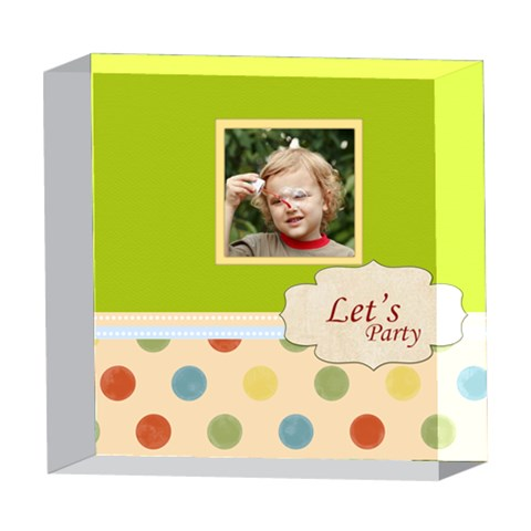 Baby By Jacob   5  X 5  Acrylic Photo Block   Erlz8tl00a5m   Www Artscow Com Front