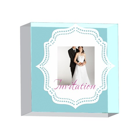 Wedding By Paula Green   4 x 4  Acrylic Photo Block   U6sw7e08jhgd   Www Artscow Com Front