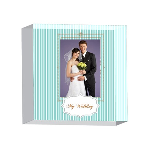 Wedding By Paula Green   4 x 4  Acrylic Photo Block   Grcu47ogb79l   Www Artscow Com Front