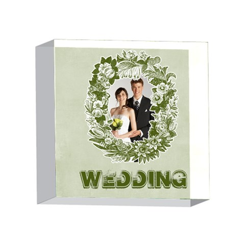Wedding By Paula Green   4 x 4  Acrylic Photo Block   4oq8bux2bmg0   Www Artscow Com Front