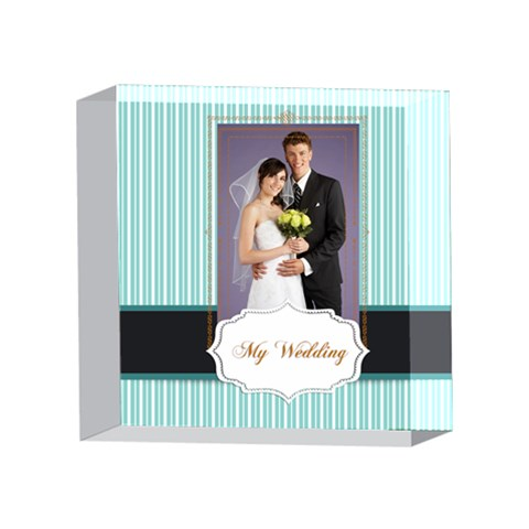 Wedding By Paula Green   4 x 4  Acrylic Photo Block   Zsi8mmn5p6tk   Www Artscow Com Front