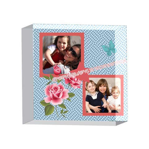Mothers Day By Mom   4 x 4  Acrylic Photo Block   A70g3pp7x8ac   Www Artscow Com Front