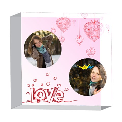 Love By Ki Ki   5  X 5  Acrylic Photo Block   Bprdjyv7cxf2   Www Artscow Com Front