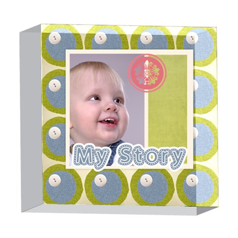 Baby By Debe Lee   5  X 5  Acrylic Photo Block   3elera97figj   Www Artscow Com Front