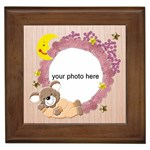 Baby Girl framed tile