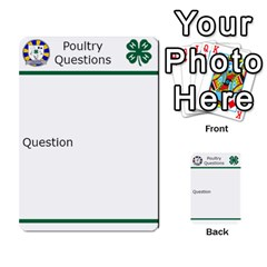 Poultry Question Cards By Lmw   Multi Purpose Cards (rectangle)   4zo8denyjrd7   Www Artscow Com Front 34