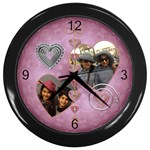 chanie clock - Wall Clock (Black)