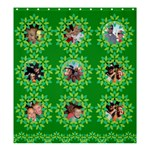 green flower photo curtain - Shower Curtain 66  x 72  (Large)