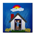 Rainbows and Showers towel - Face Towel