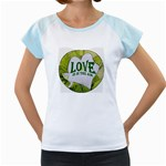 Love Is In The Air Women s Cap Sleeve T