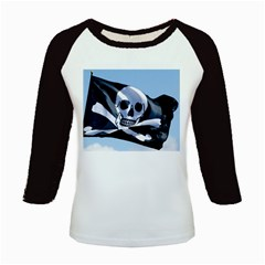 Pirate Flag Kids Baseball Jersey by Destiny