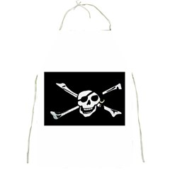 Pirate Symbol Full Print Apron by Destiny