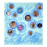 Blue Bubbles Shower Curtain  - Shower Curtain 66  x 72  (Large)