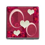 I Heart you Pink memory card reader - Memory Card Reader with Storage (Square)