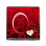 I Heart you Red memory card reader - Memory Card Reader with Storage (Square)